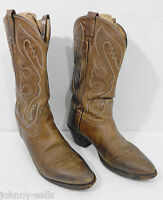 Tony Lama Mens 9D Brown Leather Cowboy Western Boots Made in USA