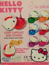 Hello Kitty Coin Capsule And Charm Tommy Gacha 6 Coins & 6 Charms 12 Pcs. Total
