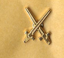 bearded villians  crossed swords lapel badge uk A