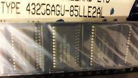 3x NEC UPD43256AGU-85LL ( D43256AGU-85LL ) , IC SRAM 32KX8 CMOS , SOP-28 SMD