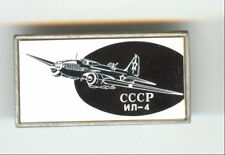 USSR Russian Aviation Iridescent Badge IL-4