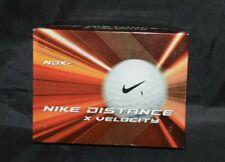 Nike Distance X Velocity White Golf Balls Qty 12 New In Box Dozen Company Logo