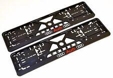2x Kennzeichenhalter Nummernschildhalter für AUDI A2 A3 A4 A5 A6  A8 Q3 Q5 Q7 TT
