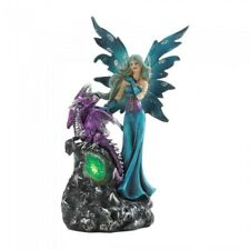 Fantasy Gifts Decor Dungeons and Gothic Fairy Dragons Statue Dragon Figurine LED