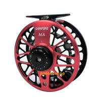 Fly Fishing Reel Machined Aluminum Adjustable Drag Stainless Steel Trout Salmon