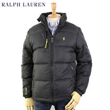 Polo Ralph Lauren MENS BLACK Down Puffer Winter Ski Jacket Coat, Size Large, NWT