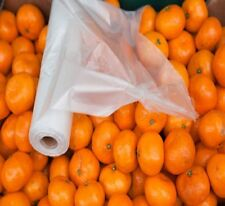 "Perforated Clear Reusable 11"" x 17"" Plastic Produce Bags 40 Rolls (30000 Bags)"