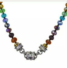KIRKS FOLLY RAINBOW MEMORIES BEADED MAGNETIC INTERCHANGEABLE NECKLACE SILVERTON