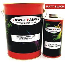 Synthetic Truck & Car Spraying Paint 6 Litre Paint kit  Matt Black (no gloss)