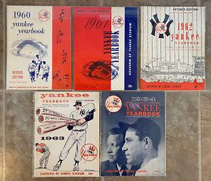 Vintage Official New York Yankees Sketch Book Yearbook. 1960 - 1964, 5 Years!