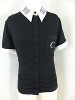 Neues Restyle Moon Child Damen Shirt Gr XXL 2XL Schwarz Goth Okkult Bestickt Neu