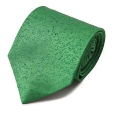 New $230 ISAIA NAPOLI Bright Melon Green Patterned Extrafine Silk Tie
