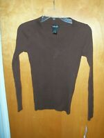LADIES WOMEN'S RAFAELLA SIZE S SMALL BROWN LONG SLEEVED SHIRT NEW TAGS