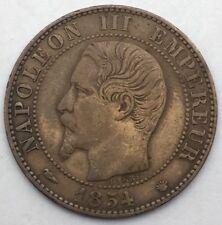 France Napoleon III 5 centimes 1854 MA bronze #1096