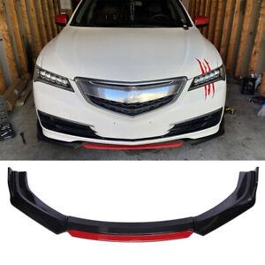 For 2015-2021 Acura TLX Carbon Fiber Front Bumper Lip Boby Kit Spoiler Splitter