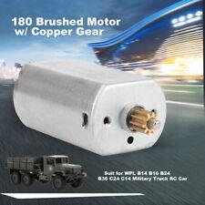 180 Motor w// Copper Gear for WPL B14 B16 B24 B36 C24 C14 RC Military Truck M4M3