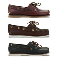NEW TIMBERLAND SHOES - CLASSIC 2 EYE BOAT SHOE - BROWN/NAVY/ROOTBEER - BNIB