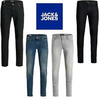 Mens Jack and Jones Jeans Slim Fit Skinny Stretch Smart Casual Denim Pants