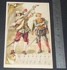 Chromo chocolat de royat 1910-1914 popular song rhyme pont d' Avignon 3
