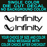 Infinity Stereo Car Audio Die Cut Vinyl Decal set of 2 Car Truck Window sticker