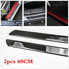 60CM Universal Real Carbon Fiber Car Door Scuff Plate Sill Cover Panel Protector
