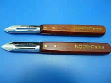 2 x Original Nogent Vegetable Peeler Potato Wood Gripe Inox