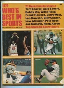 Who's Best In Sports 1970 Gale Sayers Len Dawson Pete Rose Hank Aaron  MBX100