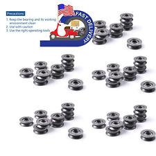 50pcs V Groove Sealed Guide Pulley Rail Ball Bearing 3x12x4mm V623603zz