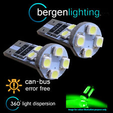 2X W5W T10 501 CANBUS ERROR FREE VERDE LUCI LATERALI A 8 LED FANALI SL101602