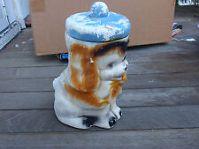 VINTAGE CHALKWARE DOG BANK 11 INCHES TALL