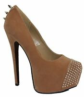 Ladies Stiletto Spiked High Heel Concealed Platform Court Shoes Women Boot Pumps