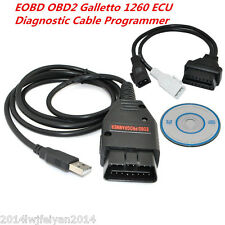 Autos EOBD OBD2 Galletto 1260 ECU Program Remap Flasher Tunning Diagnostic Cable