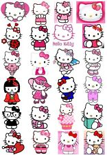 24 Mixed Hello Kitty Large Sticky White Paper Stickers Labels New