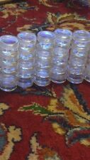 "A Box of 450 Clear Plastic Small Round Container Jars 1.2"" D  and .6"" H"