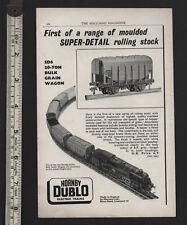 1958 vintage ad Hornby Dublo Electric Train Grain Wagon Rolling Stock Meccano