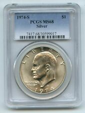 1974 S $1 Silver Ike Eisenhower Dollar PCGS MS68