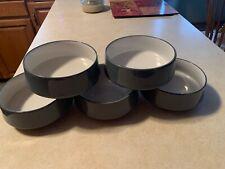 Dansk KOBENSTYLE SLATE BLUE All Purpose Cereal Bowl ~ Set Of 5 ~ EUC