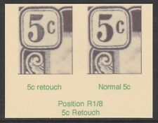 121 BRUNEI 1924 5c RETOUCH perf SPECIMEN - only 7 can exist