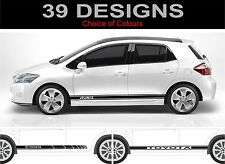 TOYOTA AURIS LATO STRIPE DECAL ADESIVI GRAFICHE TRD 2 OFF