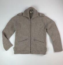 Vtg Field & Stream Gordon & Ferguson Co Lt Tan/Beige Wool Full Zip Sweater XL