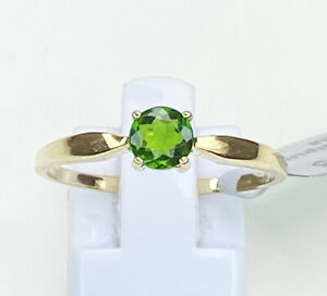 9k Gold Chrome Diopside Gemstone Ring, Size R/S, Gems Tv, With Cert