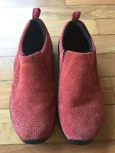 Womens Merrell Air Cushion Jungle Moc Suede Leather Chili Pepper Red Size 10 41