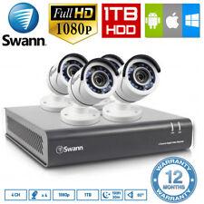 Swann DVR4-4550 4CH 1080P DVR Security Surveillance CCTV w/ 4x PRO-T853 Cameras
