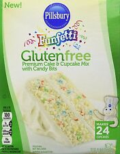 Pillsbury Funfetti Gluten Free Premium Cake & Cupcake Mix w Candy Bits (2 Boxes)