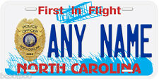 North Carolina Police Any Name Number Novelty License Plate
