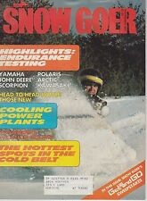 NOV 1977 SNOW GOER snowmobile magazine