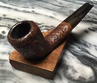 Vintage Estate York De Luxe Semi Rustic Flat Shank Acorn Pipe-Danish Made!