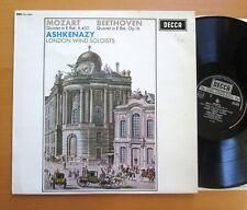 SXL 6252 Mozart Beethoven Quintets Ashkenazy London Wind Soloists 1966 NM Decca