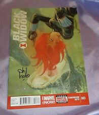 BLACK WIDOW #3~1ST PRINT~HAND-SIGNED BY PHIL NOTO+NATHAN EDMONDSON~