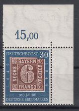 30 Pf 100 Jahre Briefmarken Mi. 115 ** Ecke 2 Luxus!